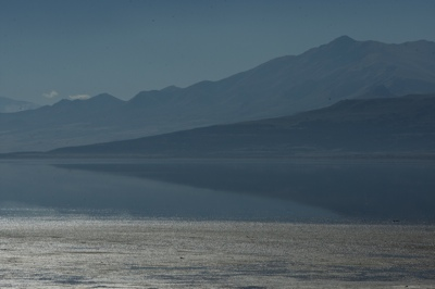 The Great Salt Lake photographed Saturday. Studies by USU that show distinct climate cycles of about 12 years that drive Utah's wet and dry periods. The wet-dry cycles are tied to sea-surface temperatures in the Pacific.