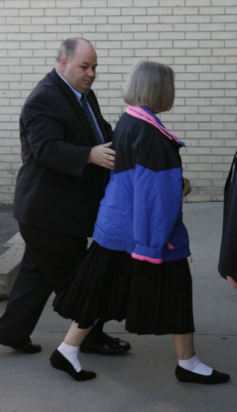 Wanda Eileen Barzee enters federal court Tuesday in Salt Lake City, where she pleaded guilty for the 2002 abduction of Elizabeth Smart. The 64-year-old agreed to testify against her husband, Brian David Mitchell, as part of a plea deal.