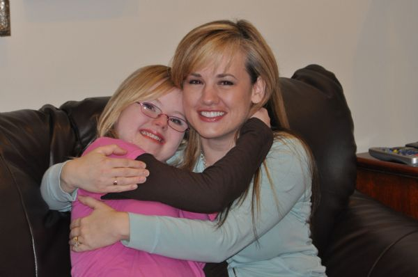 Amy Moore and her daughter Kenly Moore of Powell, Wyo.  Kenly, 14, was born in Logan with Down syndrome. Amy Moore said the fact that more children are born with Down syndrome in Utah than other states means there's a large support system for the children and their families.