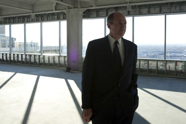 Hamilton Partners Bruce Bingham talks to members of the media on the 20th floor of Salt Lake City's newest high-rise building, 222 S. Main Street Thursday December 3, 2009. It's one of the few skyscrapers that have been completed in the last year, as office building construction has largely come to a complete halt. 222 S. Main is a $125 million, 22-story office tower comprised of about 459,000 square feet of office space.