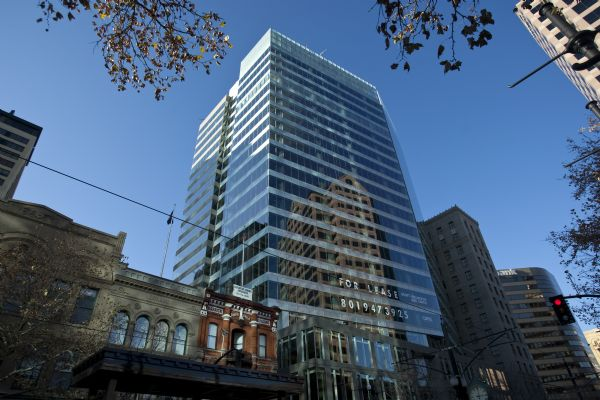 Salt Lake City's newest high-rise building, 222 S. Main Street Thursday December 3, 2009. It's one of the few skyscrapers that have been completed in the last year, as office building construction has largely come to a complete halt. 222 S. Main is a $125 million, 22-story office tower comprised of about 459,000 square feet of office space.