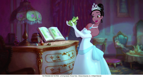 THE PRINCESS AND THE FROG      (L-R) Frog Naveen, Princess Tiana      ©Disney Enterprises, Inc.  All Rights Reserved.