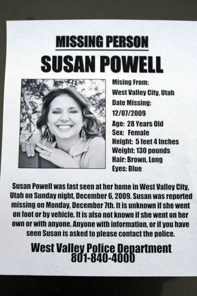 On Saturday, volunteers distributed around 4,500 'missing person' fliers around the Salt Lake Valley. Saturday December 12, 2009. Susan Powell, 28, was seen last Sunday at her home and was reported missing by her relatives the next day.