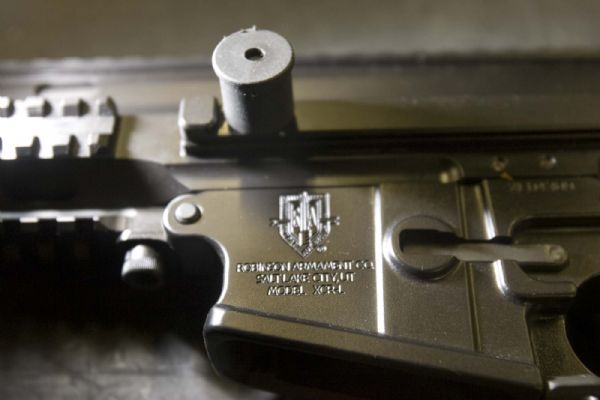 The Robinson Armament logo, along with the  place of manufacture, is stamped on each rifle. The company, which employs 15 people in Salt Lake City, would be one of several firearms manufacturers marginally affected by a proposed gun-rights law. The legislation would exempt guns made, sold and kept in-state from federal weapons laws.
