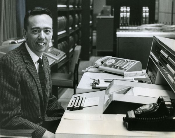 Dr. David Evans' hiring in 1966 as the University of Utah's first director of computer science led to the school's role in the birth of the Internet. 1967 Tribune file photo.