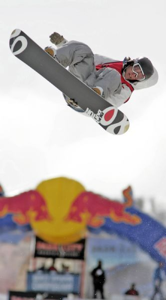 Kevin Pearce competes in the World Superpipe Championships in Park City in 2006.