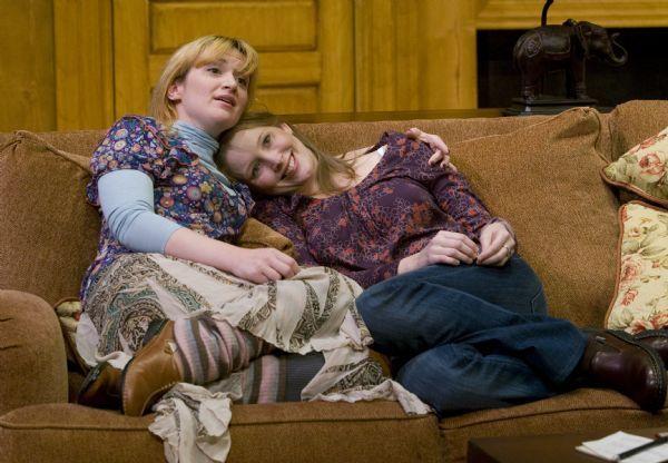 Rick Egan      The Salt Lake Tribune  L-R  Kelly Hutchinson as Emma, and Jennifer Joan Thompson as  Kay, in Pioneer Theatre Companies