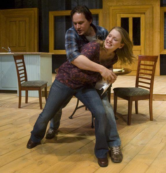 Rick Egan      The Salt Lake Tribune  Alex Podulke, as Billy,  and Jennifer Joan Thompson as  Kay, in Pioneer Theatre Companies