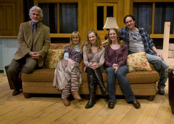 Rick Egan      The Salt Lake Tribune  L-R Dennis Parlato as Doctor, Jennifer Kelly Hutchinson as Emma,  author Bess Wohl, Joan Thompson as Kay, and Alex Podulke, as Billy  in Pioneer Theatre Companies