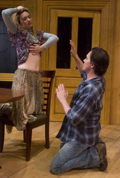 Rick Egan      The Salt Lake Tribune  Kelly Hutchinson as Emma, and Alex Podulke, as Billy, in Pioneer Theatre Companies