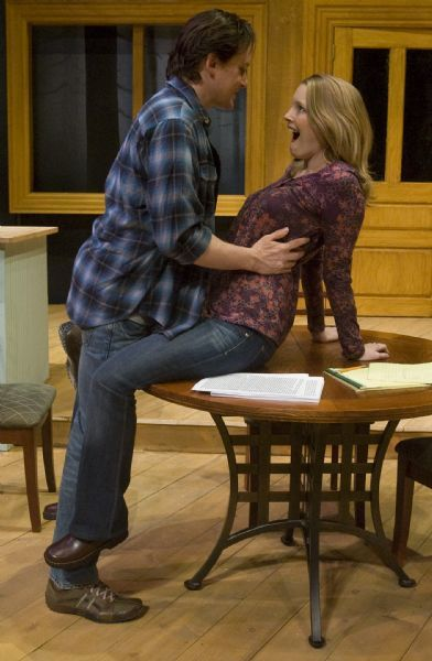 Rick Egan   |  The Salt Lake Tribune  Alex Podulke,as Billy,  and Jennifer Joan Thompson as Kay, in Pioneer Theatre Companies