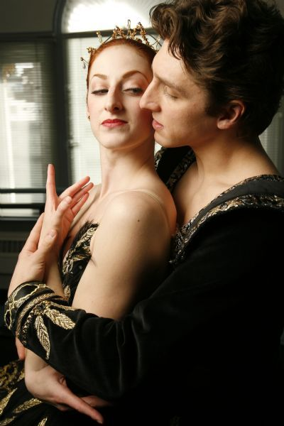 Above, Christiana Bennett (the Black Swan) and Christopher Rudd, who will be dancing the lead roles on opening night.    SLC 2/2/10