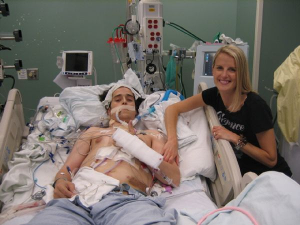 Paul Cardall recovers with his wife Lynnette after his heart transplant in September.