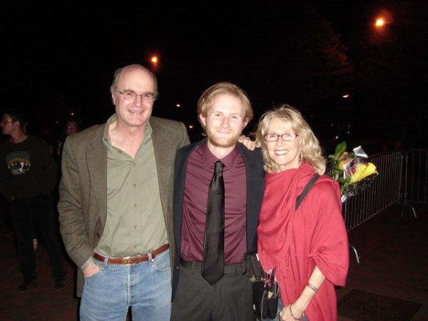 Left to right: Charles Morey, son Will and Joyce Cohen
