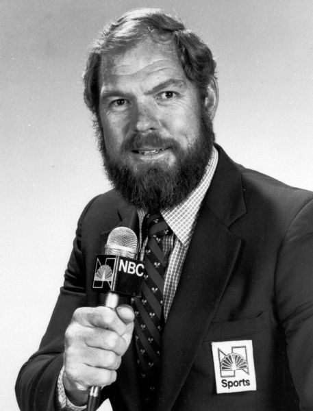 Pro Football Hall of Famer Merlin Olsen, working as a broadcaster in this 1980 photo, died early Thursday, March 11, 2010, in Los Angeles. He was 69.