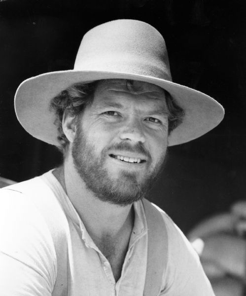 In this 1977 handout photo, Merlin Olsen is shown in character for his part of a farmer-woodsman in