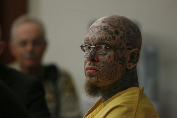 Prison inmate Curtis Allgier, charged with capital murder and seven other felonies for the June, 25, 2007, slaying of 60-year-old prison Officer Stephen Anderson. Anderson was killed with his own gun while taking Allgier to University Hospital for an MRI. Allgier appeared before Judge Robin Reese at the Matheson Courthouse in Salt Lake City on Tuesday.