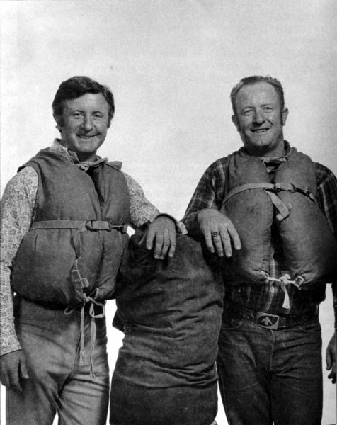 The late Don Hatch, left, and his brother Ted took over Hatch River Expeditions from their father Bus and turned into one of Utah's most popular guide companies. Ted died this week at age 76.