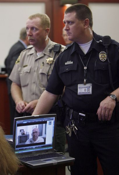 Francisco Kjolseth  |  The Salt Lake Tribune  Joseph Burdell, below, is shown in a pre-recorded video expressing his belief that Ronnie Lee Gardner should not be executed for killing his son, Michael Burdell. A judge at the Matheson Courthouse in Salt Lake City on April 18, 2010, set a June 18 execution date for Gardner.