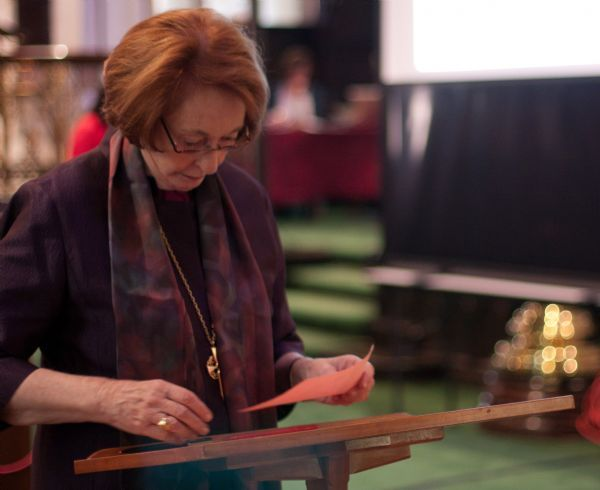 Thomas Nelson | The Salt Lake Tribune  Departing Bishop Carolyn Tanner Irish prepares her ballot for the new Bishop of the Salt Lake Diocese at St. Mark's Episcopal Cathedral on Saturday, May 22, 2010. Irish will retire in November.