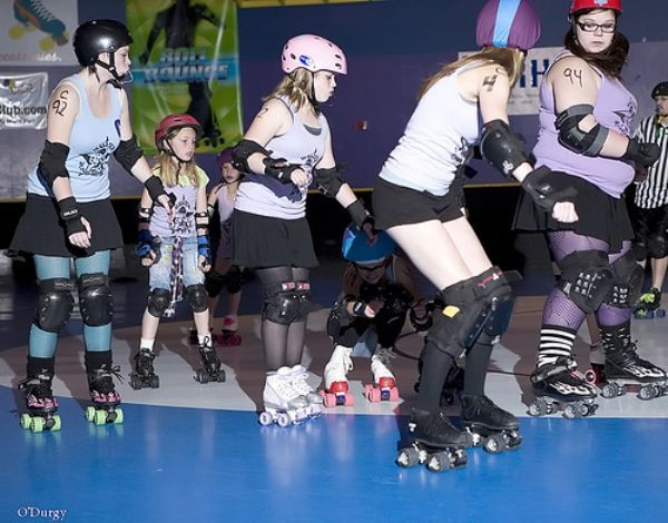 The youngest of the roller derby girls in Utah ages 8-17.  These girls love the sport and give it their all! picture by O' Durgy