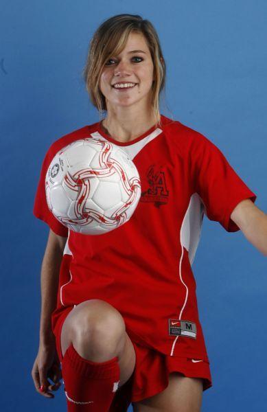 Photo by Leah Hogsten  |  The Salt Lake TribuneAbove,  Kealia Ohai from Alta High. The Salt Lake Tribune's 2009 Girls Soccer MVP's.