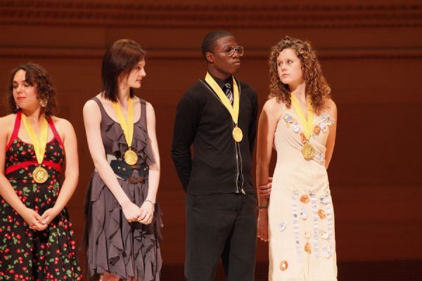 Courtesy ScholasticProvo's Mackenzie Jacoby, far right, stands with fellow winners of the 2010 Scholastic Art and Writing Awards Gold Medal. Jacoby was honored at Carnegie Hall in New York City.