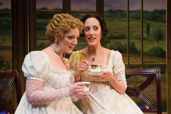 Karl Hugh   Utah Shakespearean Festival Melinda Pfundstein (left) as Miss Jane Bennet and Kate Cook as Miss Elizabeth Bennet in