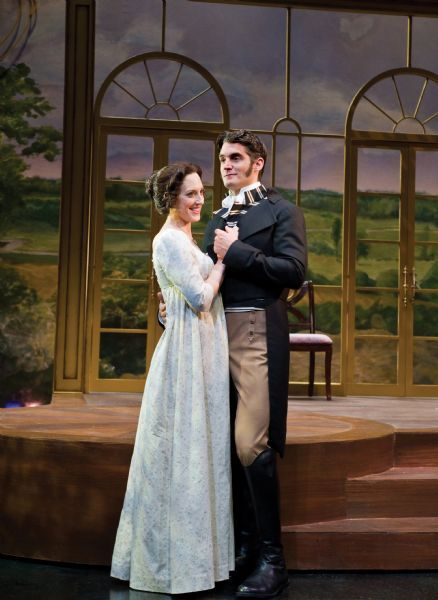 Karl Hugh | Utah Shakespearean Festival Kate Cook as Elizabeth Bennett and Michael Brusasco as Fitzwilliam Darcy in USF's adaptation of