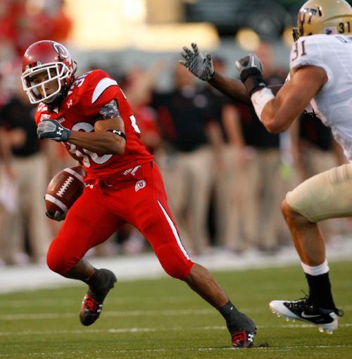 Trent Nelson  |  The Salt Lake TribuneUtah's Eddie Wide (36). University of Utah vs. Pitt, college football, Thursday, September 2, 2010 at Rice-Eccles Stadium in Salt Lake City.