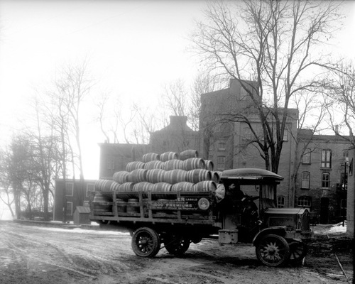 Wagener Beer truck outside brewery, Emigration Canyon, 1914