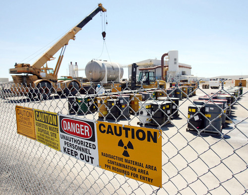 Steve Griffin   Tribune file photo The environmental group Healthy Environment Alliance of Utah says the plan to bring downblended waste to EnergySolutions' Tooele County landfill could double the amount of radioactivity at the site. The company says safety is its No. 1 priority and it will abide by state regulations.