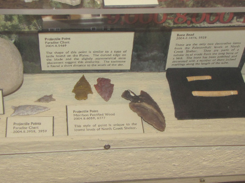 Mark Havnes | The Salt Lake Tribune An example of some of the projectile points, on display at the Slot Canyons Inn, recovered from an archaeological dig on the site.