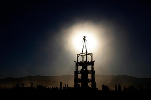Rick Egan   |  The Salt Lake TribuneDust blows across the playa in the Black Rock Desert, 100 miles north of Reno Nev., during the Burning Man Festival,   Friday, Sept. 3, 2010.