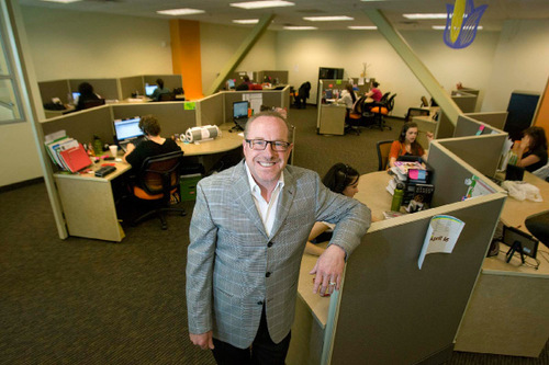 Paul Fraughton/ Tribune file photoPresident and CEO of Davinci Virtual Office Solutions, Bill Grodnik stands in one of the company's call answering centers in Sugar House.  The location answers phones for companies throughout the United States.