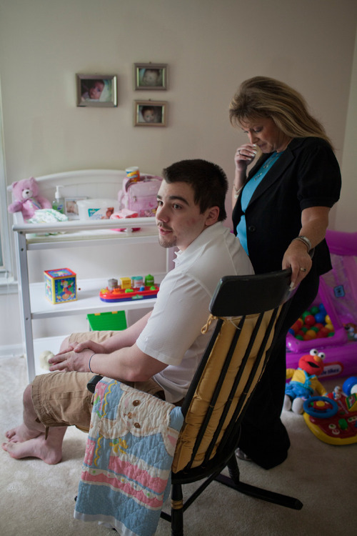 John Wyatt of Dumfries, Va., is trying to get custody of his daughter, Emma, who was given up for adoption to a Utah couple by the girl's mother without his consent. His mother, Jeri Wyatt, is helping her son try to gain custody. (Photo by Dayna Smith)