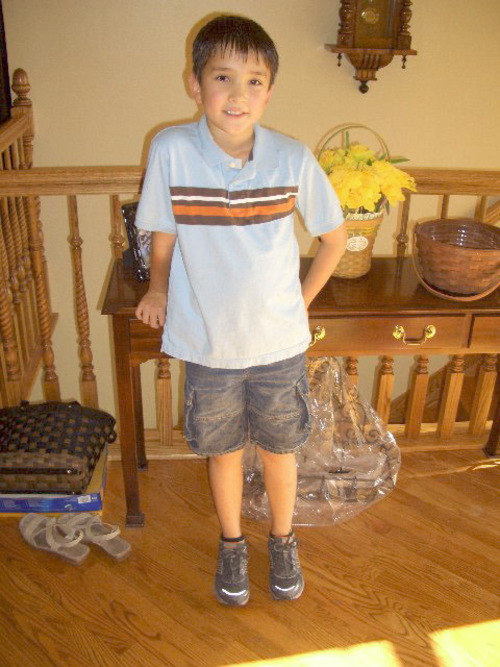 James Warhola dressed to go meet his new teacher just before school started. Courtesy Image
