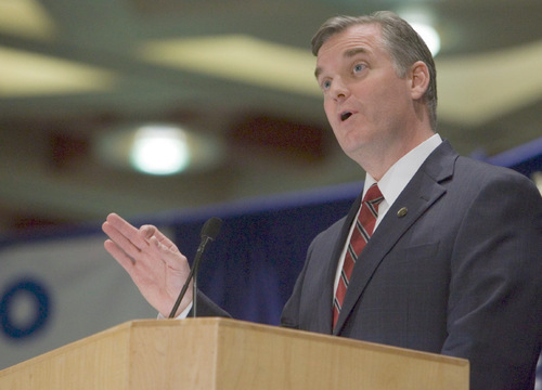 Jim Urquhart  |  Tribune File Photo Salt Lake County Mayor Peter Corroon, a candidate for governor, says there is a troubling pattern of donors to Gov. Gary Herbert's campaign receiving favored treatment or contracts.