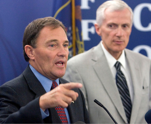 FILE PHOTO | The Salt Lake Tribune Gov. Gary Herbert sharply criticized the Legislature's budget-writing process on Tuesday. Lawmakers were not happy about his complaints.