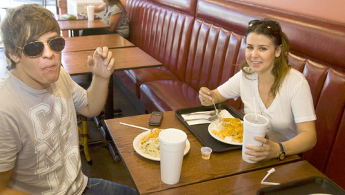 Paul Fraughton     The Salt Lake TribuneJared Olson and Hannah Morales  have a  birthday lunch for Hannah at My Thai in Salt Lake City on Sept. 1.