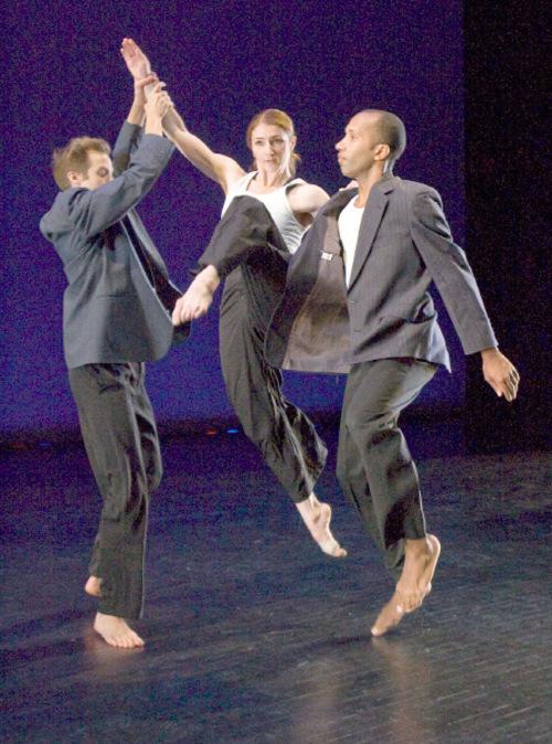 Paul Fraughton | The Salt Lake Tribune Ririe Woodbury dancers, Caine Keenan, Elizabeth Kelley and Jo Blake, rehearse