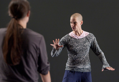 Photo by Jim Urquhart  |  The Salt Lake TribuneChoreographer Leah Cox directs the dancers during Ririe Woodbury's rehearsals July 27 at the Rose Wagner Performing Arts Center in Salt Lake City.