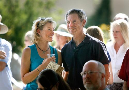 Scott Sommerdorf  l  The Salt Lake Tribune Salt Lake City Mayor Ralph Becker and his girlfriend, Kate Kopischke, during the 10th anniversary celebration at Gilgal Sculpture Gardens in Salt Lake City, Sunday, September 12, 2010.