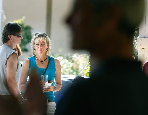 Scott Sommerdorf  l  The Salt Lake Tribune Kate Kopischke listens to her boyfriend, Salt Lake City Mayor Ralph Becker, speak at the 10th anniversary clebration at Gilgal Gardens in Salt Lake City, Sunday, September 12, 2010.