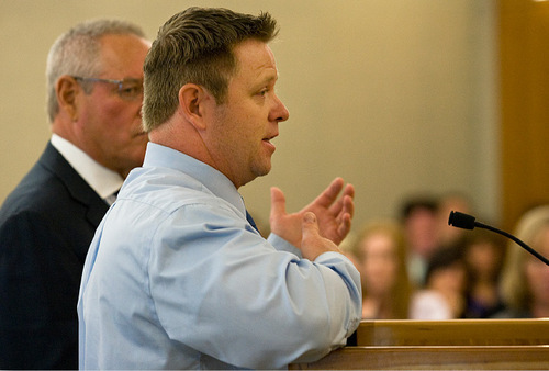 Michael Pratt shares a few final words to the judge and those in attendance Monday, Sept. 20, 2010, at the Fourth District Court in American Fork.Pratt was sentenced to 5 years to life in prison.ANDREW VAN WAGENEN/ Daily Herald