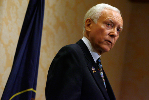 Francisco Kjolseth  |  The Salt Lake Tribune     Sen. Orrin Hatch opposes extra benefits for workers whose jobs are shipped overseas. Hatch says the benefits are unrelated to the trade agreement they are attached to.