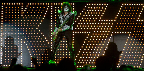Steve Griffin  |  The Salt Lake Tribune Tommy Thayer of Kiss plays the quitar during a concert at Rio Tinto Stadium in Sandy on Wednesday, Sept. 22, 2010.