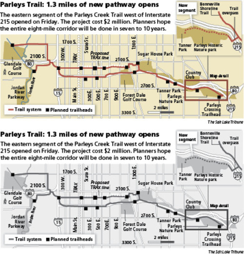 Parleys Trail: 1.3 miles of new pathway opens