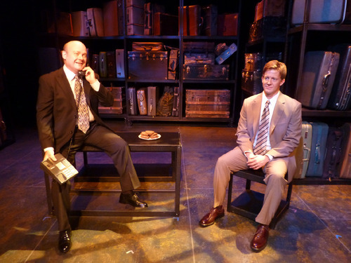 Charles Lynn Frost as Roy Cohn, left, and Alexander Bala as Joe in