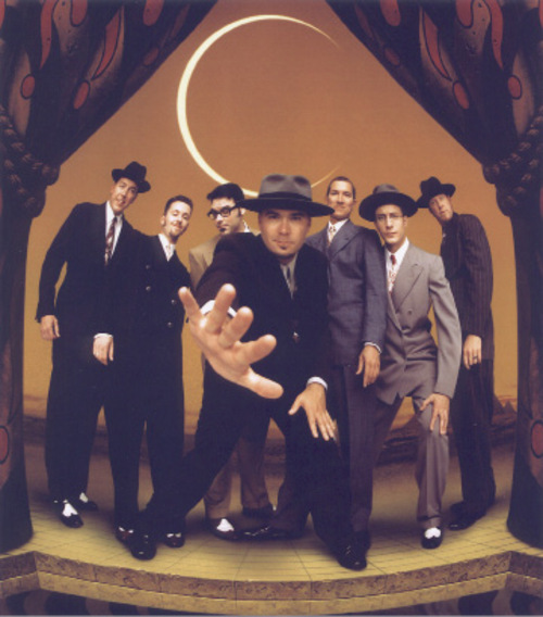 Big Bad Voodoo Daddy performs at Liberty Park Saturday.
